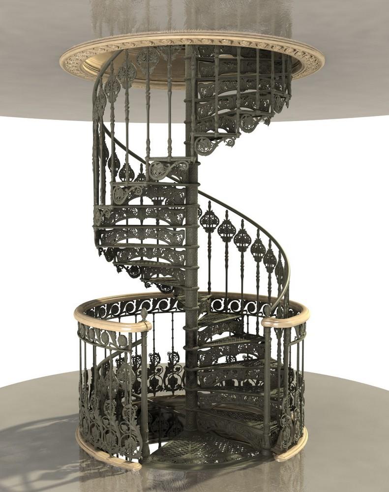 Чугунные винтовые лестницы
