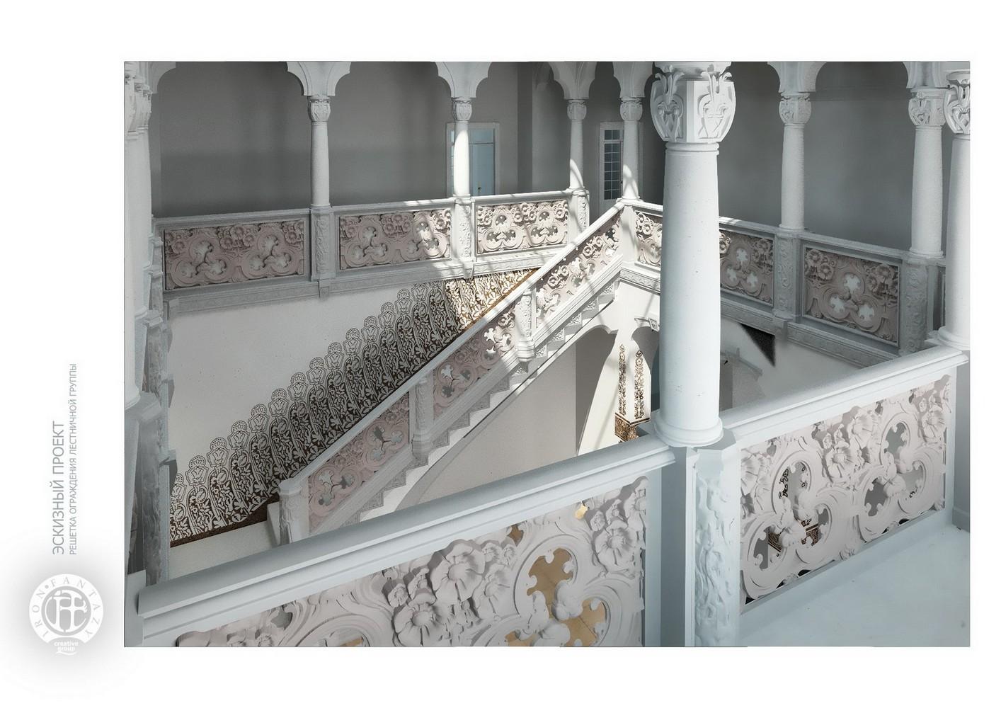 Чугунные лестницы. Решетка ограждения
