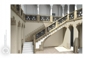 Чугунные лестницы. Решетка ограждения лестничной группы